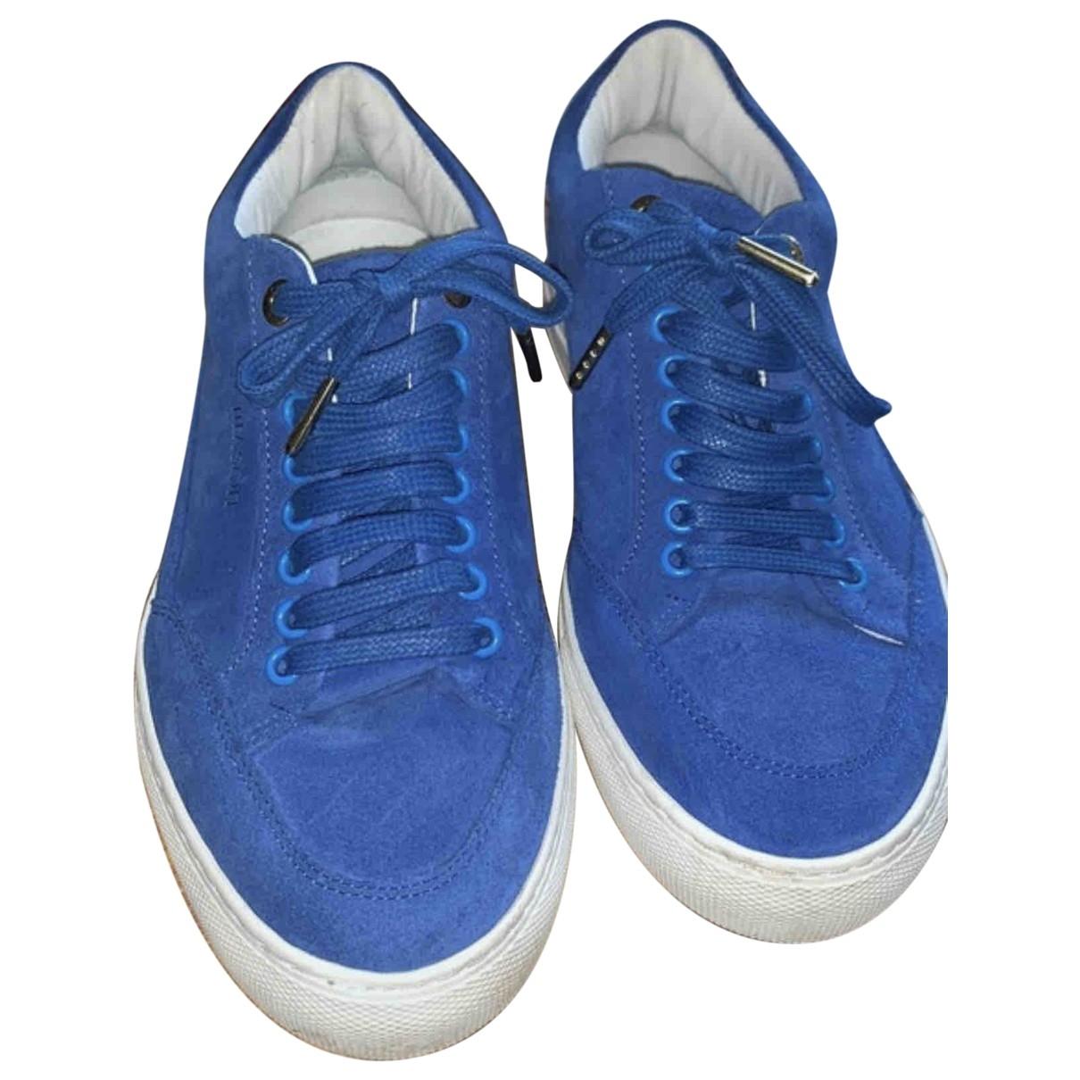 Mason Garments - Baskets   pour femme en suede - bleu