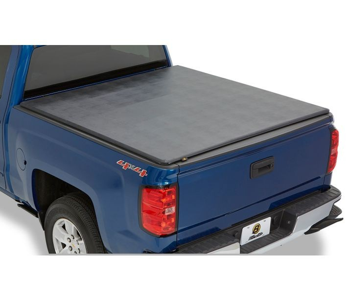 Bestop 16218-01 Black EZ-Fold Soft Tri-Fold Tonneau Cover Chevrolet Silverado | GMC Sierra 8 Ft. Bed 2014-2018