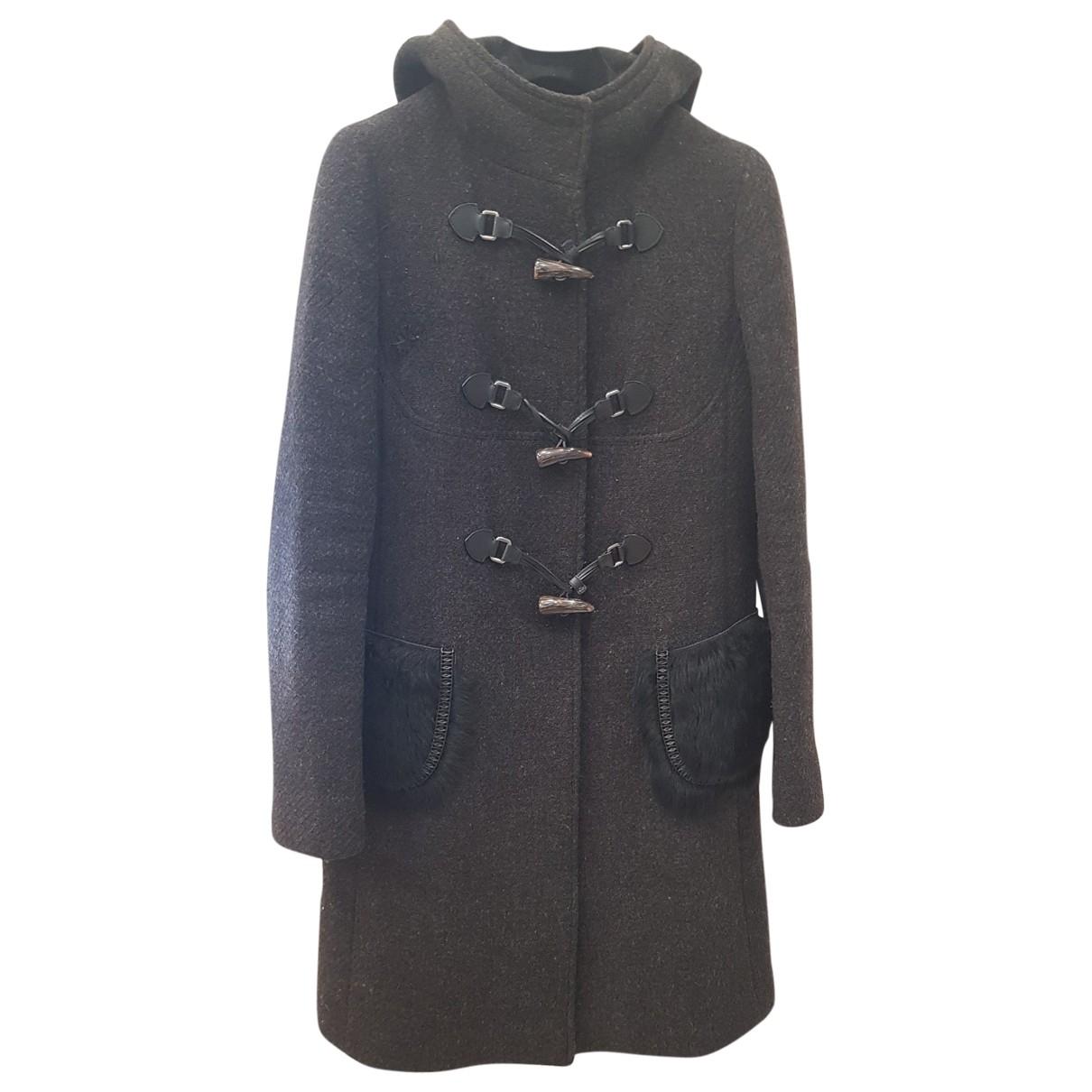 Prada - Manteau   pour femme en laine - gris