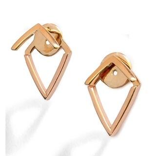 Trill 2-Way Convertible 18K Gold Over Sterling Silver Vermeil Ear Jacket Earrings (18K Rose Gold Vermeil)