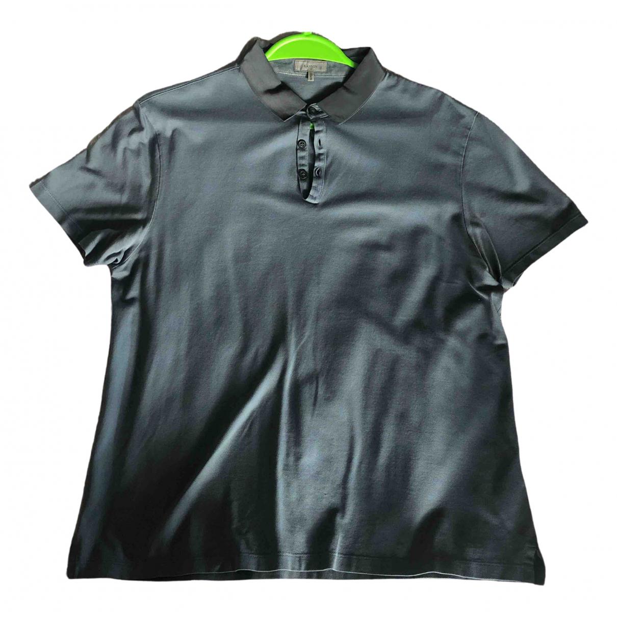 Lanvin - Polos   pour homme en coton - turquoise