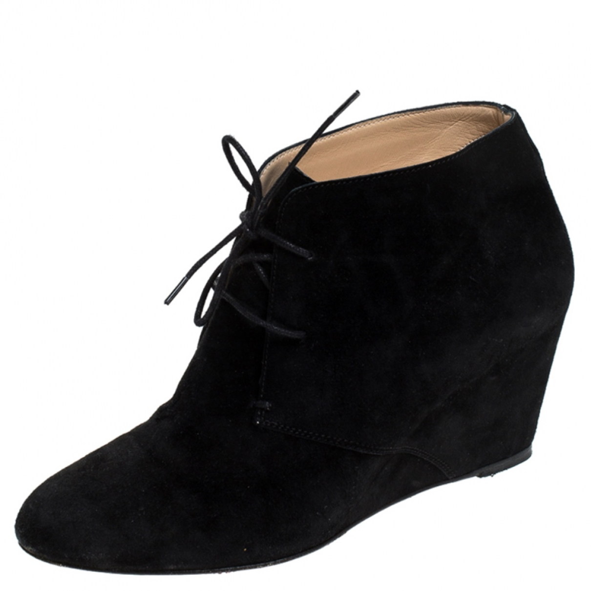 Christian Louboutin N Black Suede Ankle boots for Women 7 US