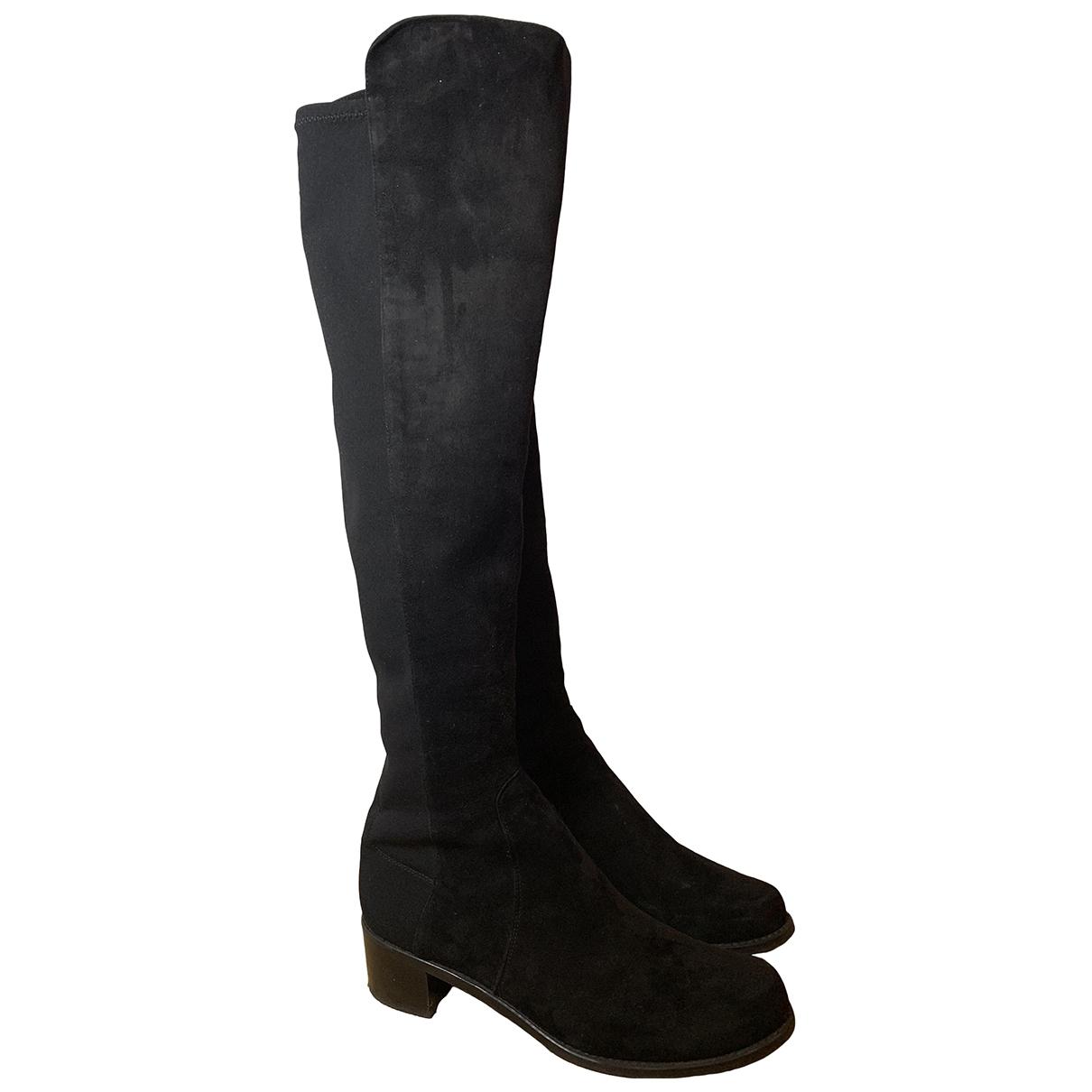 Stuart Weitzman \N Black Suede Boots for Women 38 EU