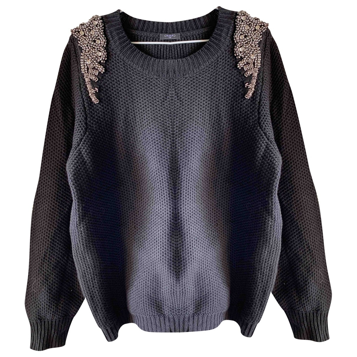 Non Signé / Unsigned \N Black Cotton Knitwear for Women 42 FR