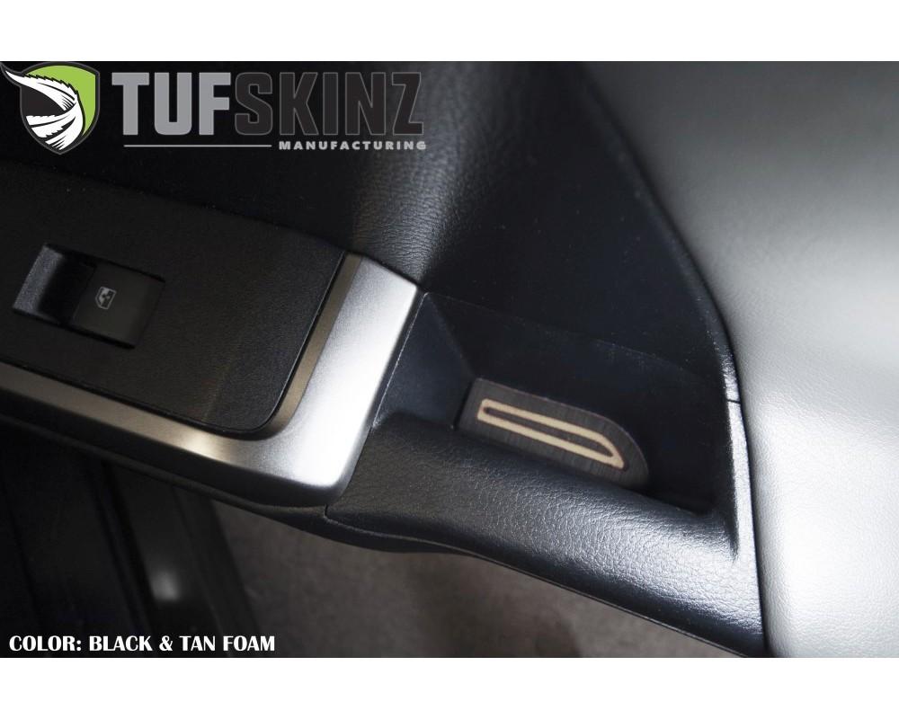 Tufskinz TAC058-FTN-X Access Cab Door Armrest Inserts- Fits 2016-2020 Toyota Tacoma 2 Piece Kit In Black/Tan