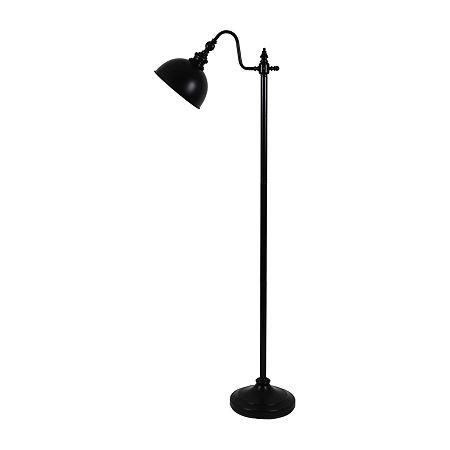 Decor Therapy White Chloe Pharmacy Steel Floor Lamp, One Size , Black