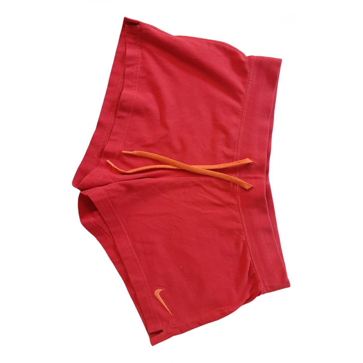 Nike \N Shorts in  Rot Baumwolle