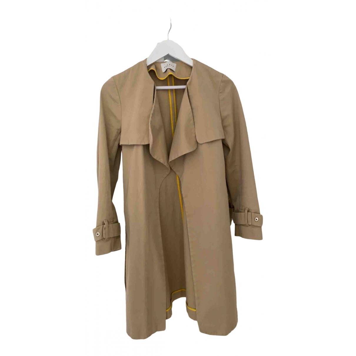 Sandro Spring Summer 2019 Beige Cotton Trench coat for Women 38 FR