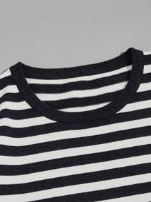 Men Striped Crew Neck Sweater