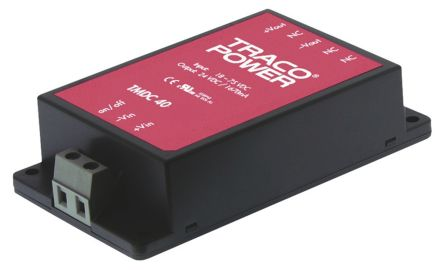TRACOPOWER TMDC 40 40W Isolated DC-DC Converter Chassis Mount, Voltage in 18 → 75 V dc, Voltage out 48V dc