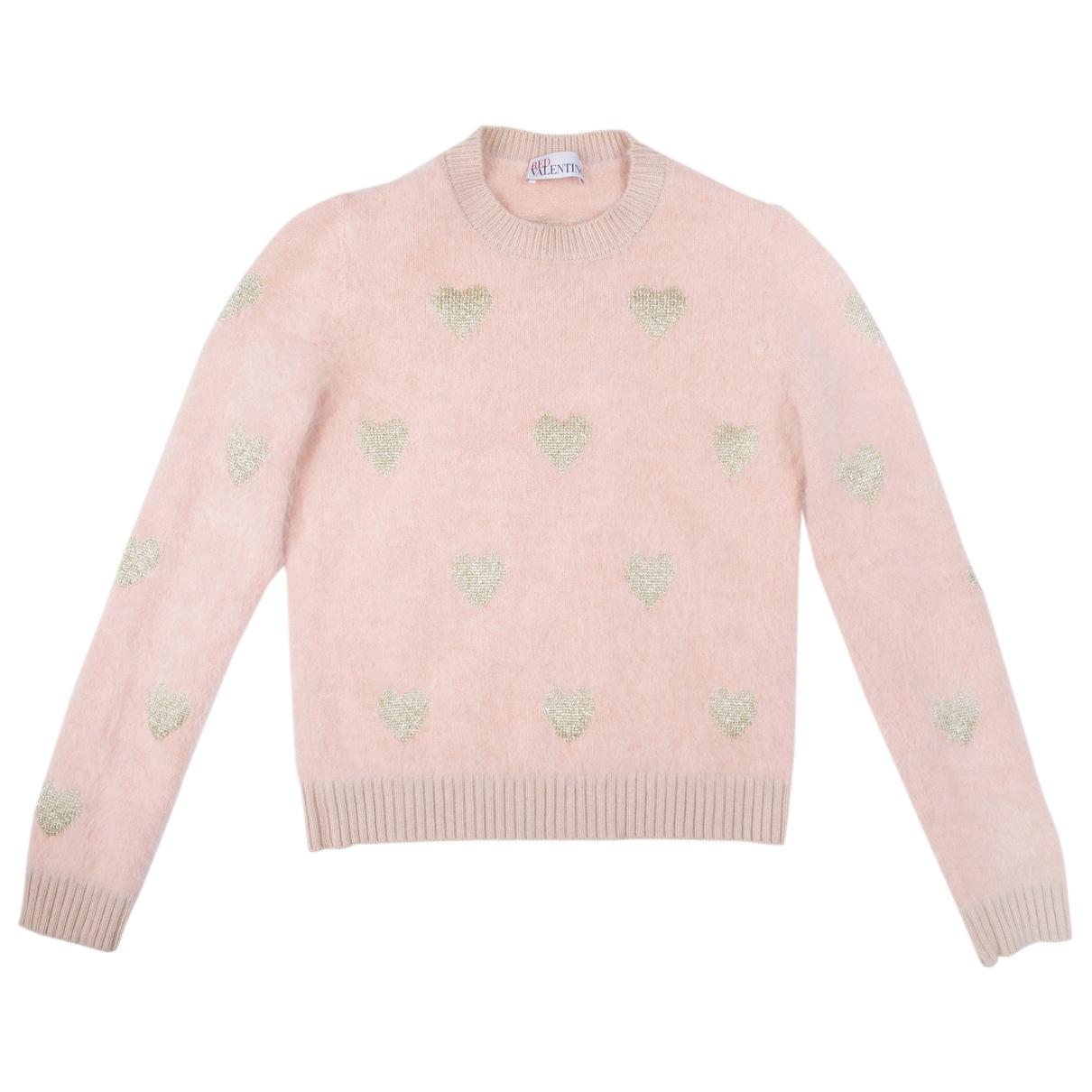Red Valentino Garavani - Pull   pour femme en laine - rose