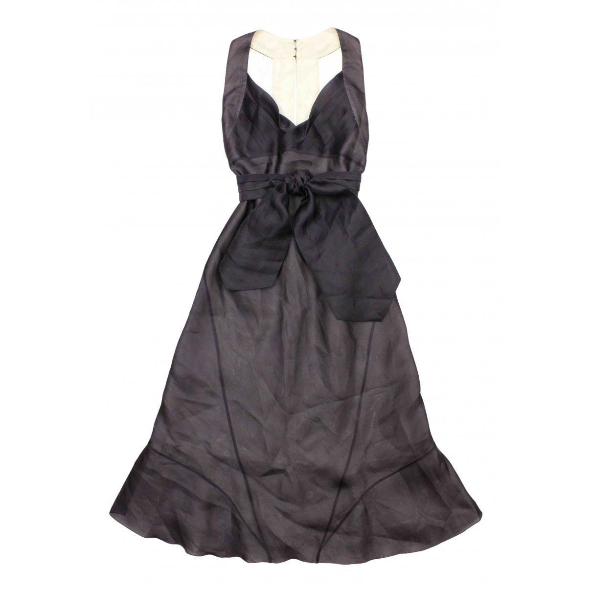 Celine \N Kleid in  Blau Seide