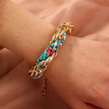 Colorful Braided Beaded Bracelet