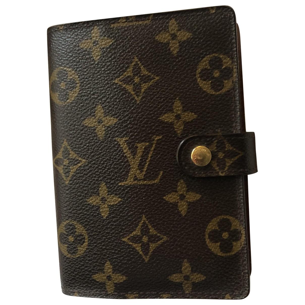 Louis Vuitton - Objets & Deco Couverture dagenda MM pour lifestyle en toile - marron