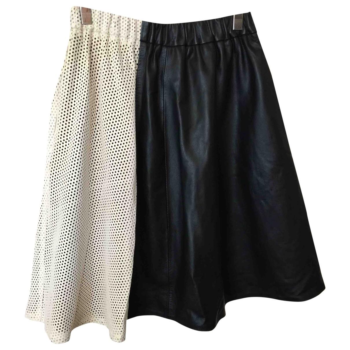 Essentiel Antwerp \N Black Leather skirt for Women 38 FR