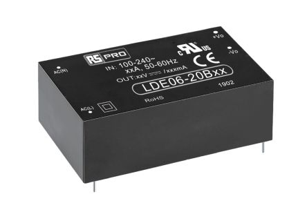 RS PRO , 6W Embedded Switch Mode Power Supply SMPS, 5V dc, Encapsulated