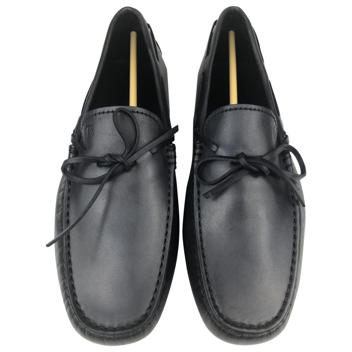 Tod's \N Navy Leather Flats for Men 6 UK
