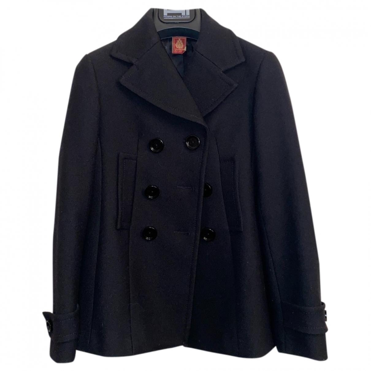 Dondup - Blousons.Manteaux   pour enfant en laine - noir