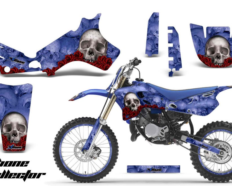 AMR Racing Graphics MX-NP-YAM-YZ80-93-01-BC U Kit Decal Sticker Wrap + # Plates For Yamaha YZ80 1993-2001áBONES BLUE