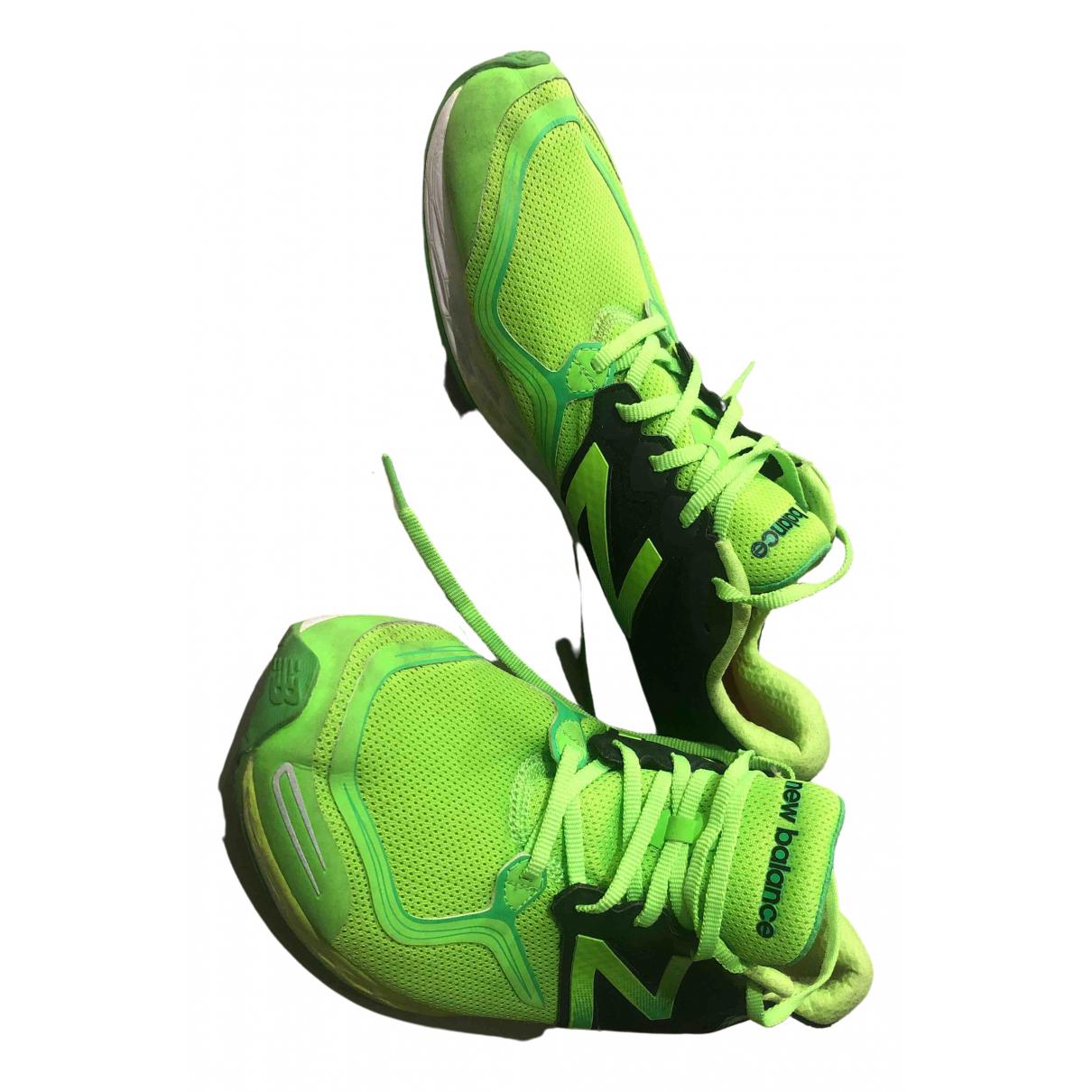 New Balance - Baskets   pour homme en toile - vert