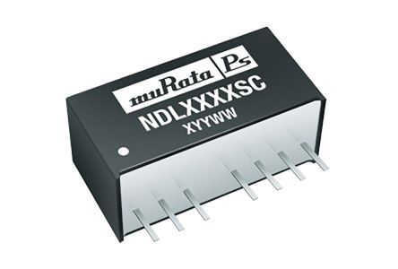 Murata Power Solutions NDL 2W Isolated DC-DC Converter Through Hole, Voltage in 36 → 72 V dc, Voltage out 5V dc