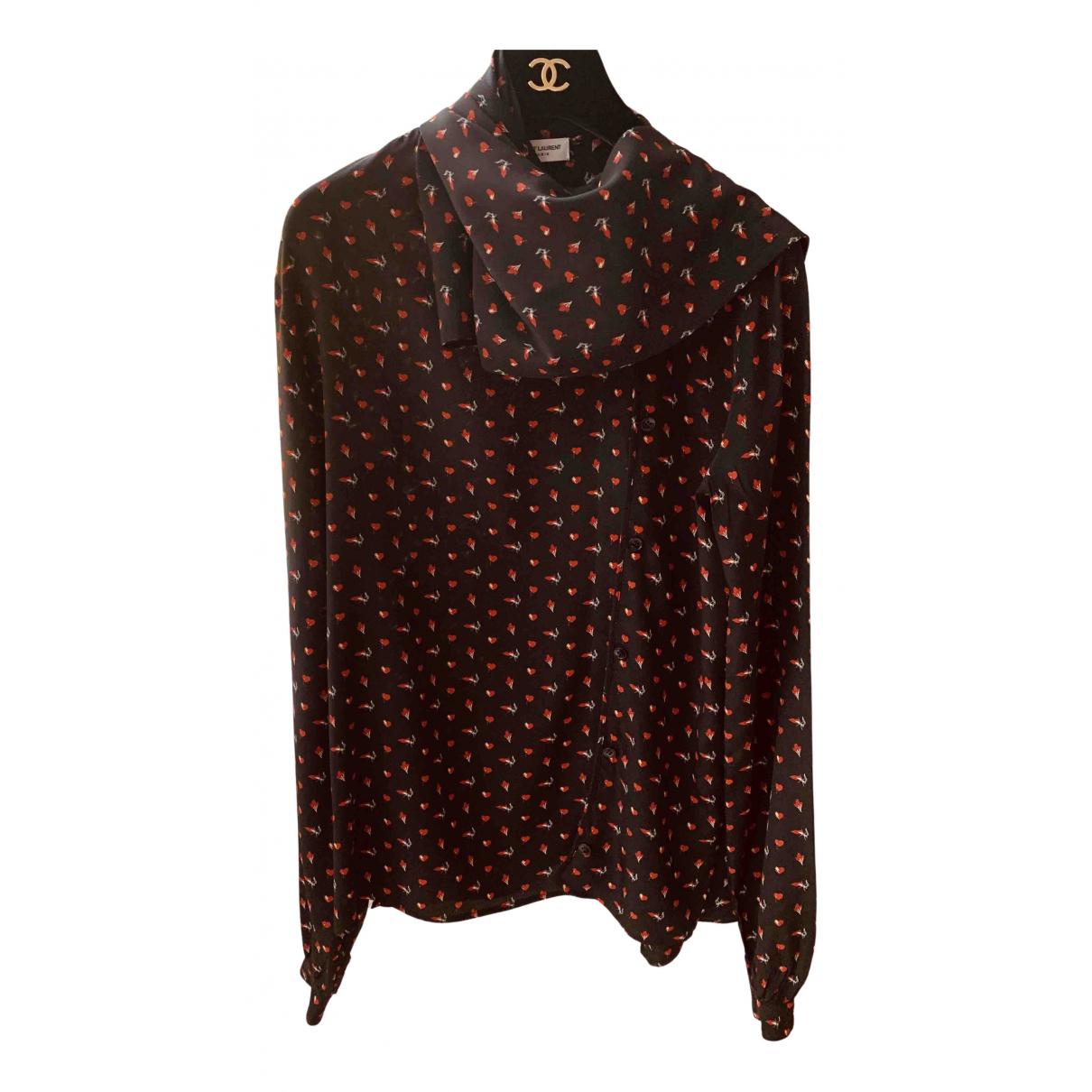 Saint Laurent Appelle-Moi Multicolour Silk  top for Women 38 FR
