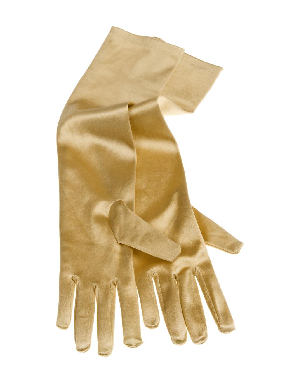 Kostuemzubehor Handschuhe Satin gold 40cm