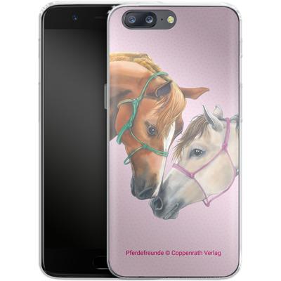 OnePlus 5 Silikon Handyhuelle - Pferdefreunde Freundschaft von Pferdefreunde