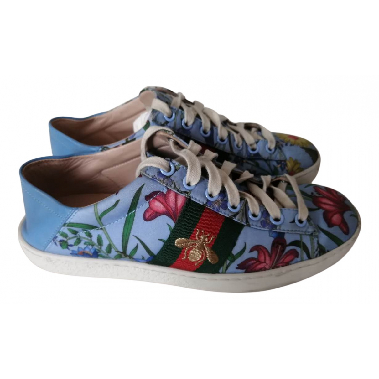 Gucci Ace Blue Cloth Trainers for Women 36 EU