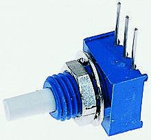 Bourns 3310C Series Conductive Plastic Potentiometer with a 3.17 mm Dia. Shaft, 200kΩ, ±20%, 0.25W, ±1000ppm/°C
