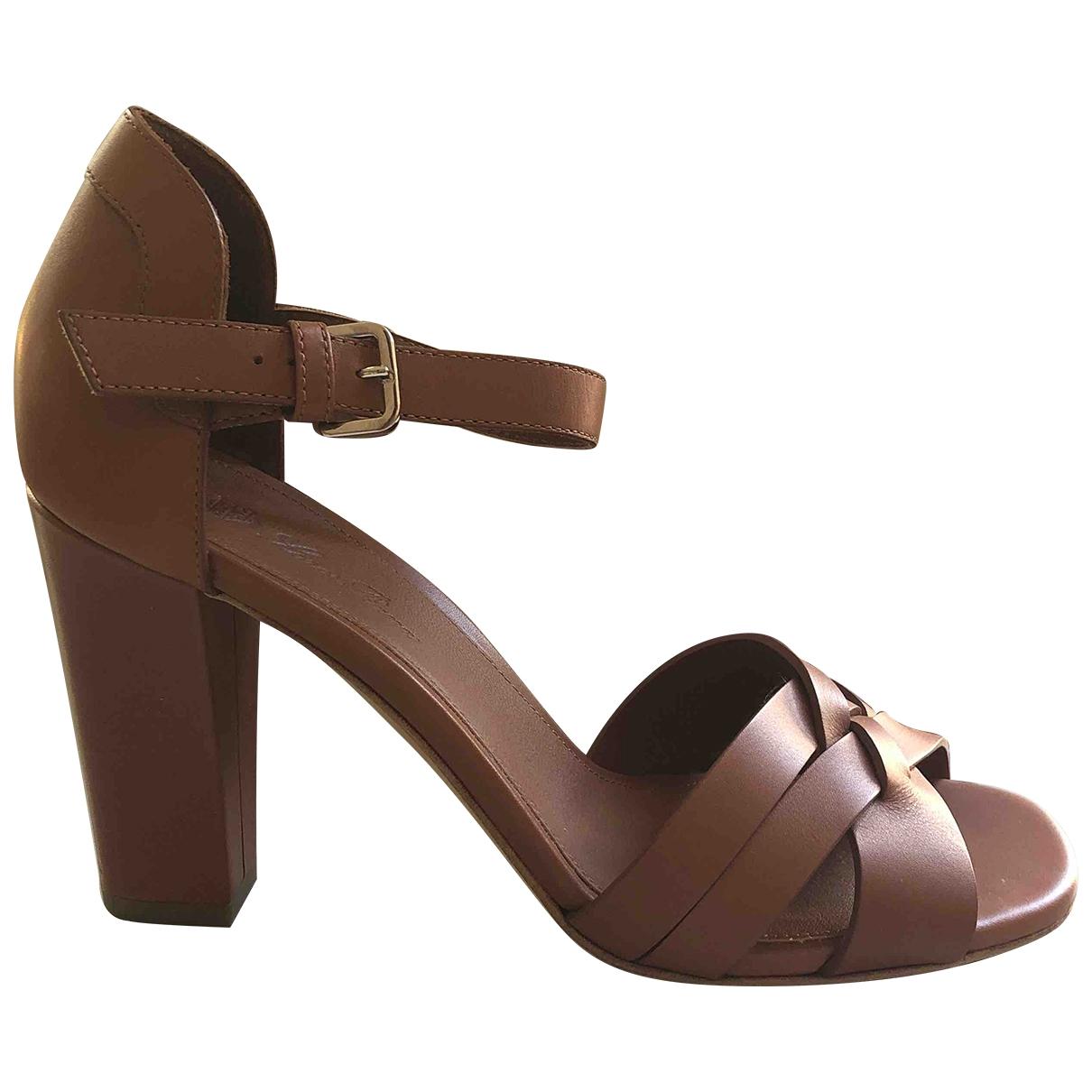 Loro Piana - Sandales   pour femme en cuir - marron