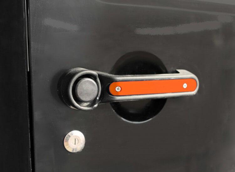 Steinjager J0045427 Door Handle Accent Kit Wrangler JK 2007-2018 1 Pack Fluorescent Orange