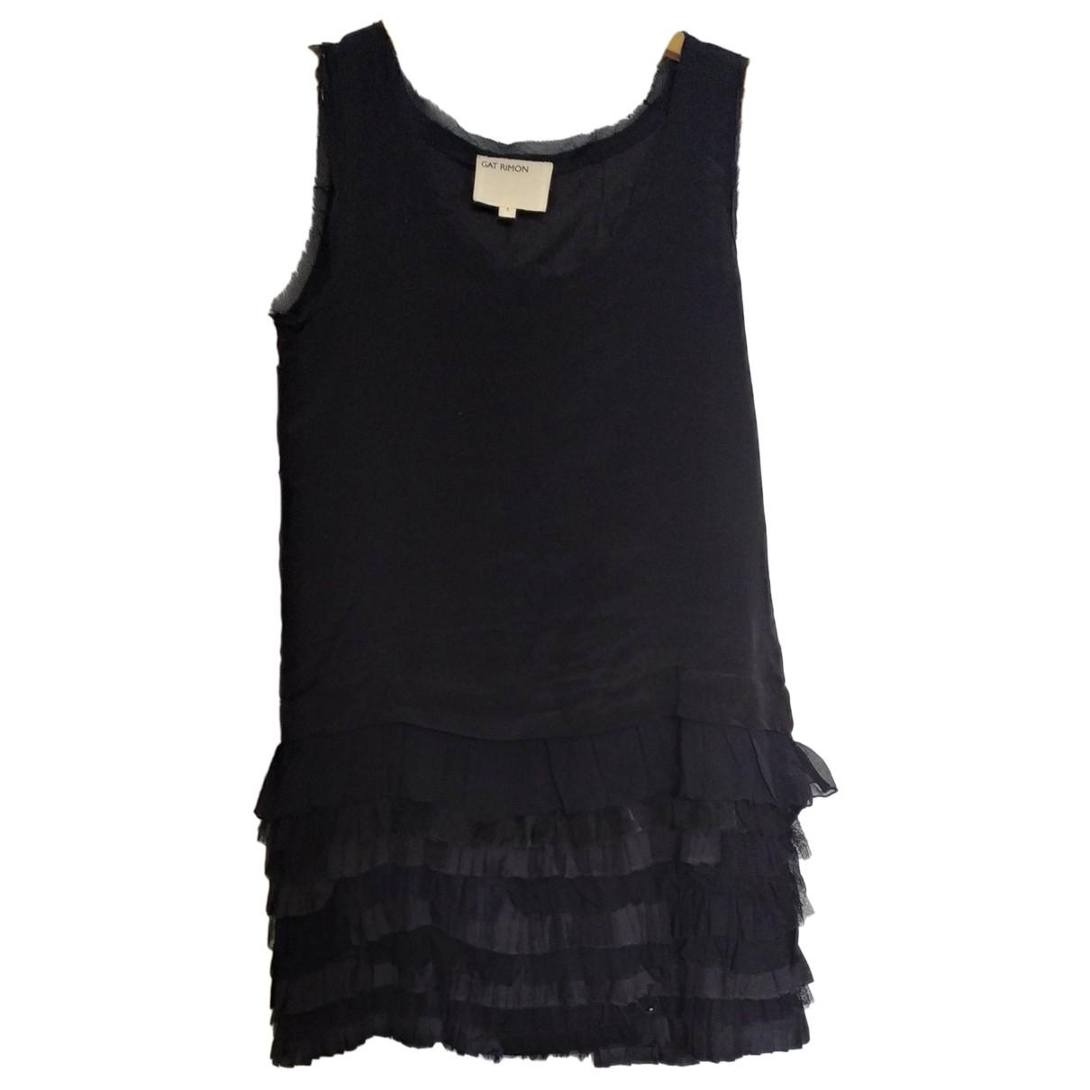 Gat Rimon \N Kleid in  Schwarz Seide
