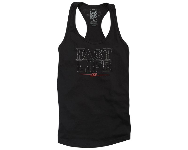 Speed and Strength 885394 Racer Tank Top Black WSM