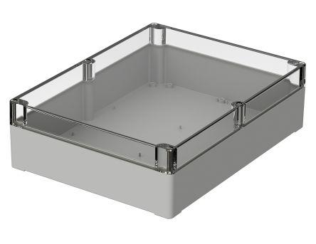 Bopla Euromas, Light Grey Polycarbonate Enclosure, IP66, Flanged, 300 x 230 x 85mm