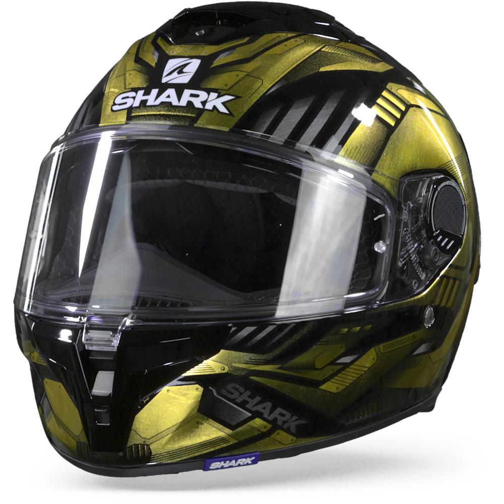 Shark Spartan GT Replikan KUQ Black Chrome Gold Full Face Helmet M