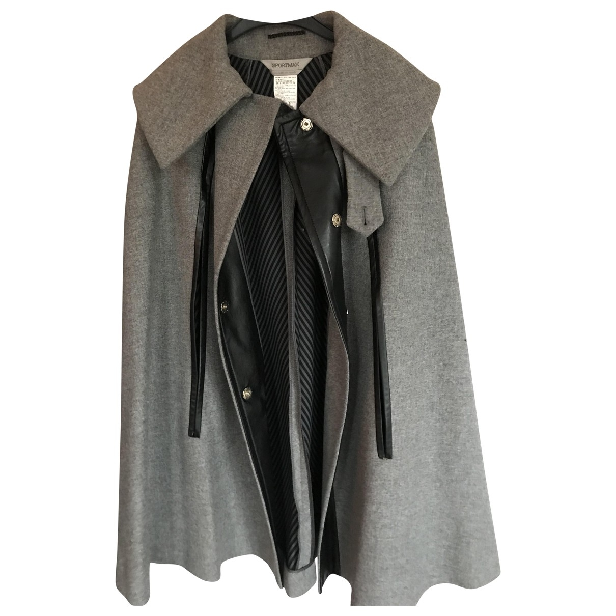 Sport Max \N Grey Wool coat for Women 42 IT