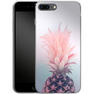 Apple iPhone 8 Plus Silikon Handyhuelle - Pastel Pineapple von Emanuela Carratoni