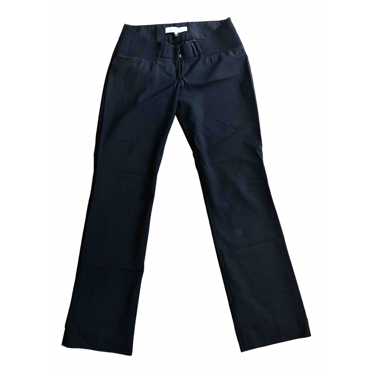Non Signé / Unsigned \N Black Wool Trousers for Women 6 US