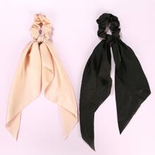 2pcs Plain Scrunchie Scarf