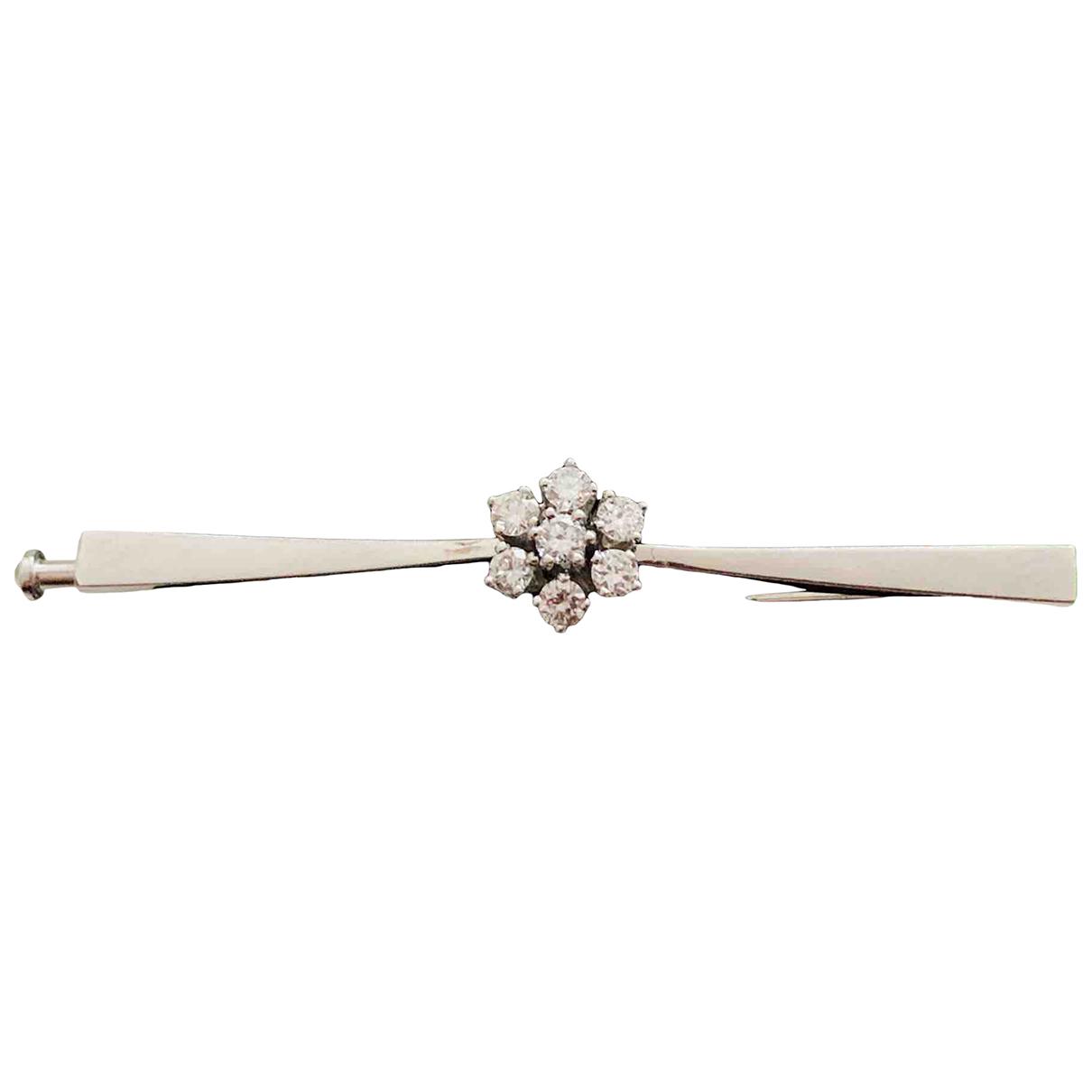 Broche Art Deco de Oro blanco Non Signe / Unsigned