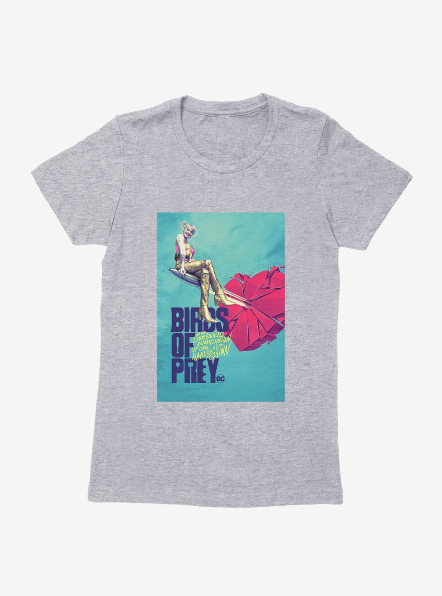 DC Comics Birds Of Prey Harley Quinn Breaking Hearts Womens T-Shirt