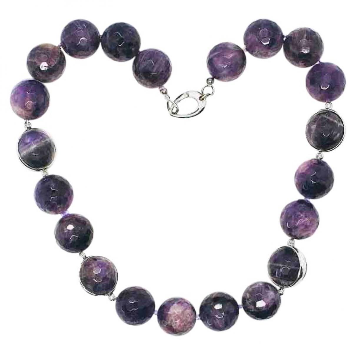 - Collier Amethyste pour femme en metal - violet