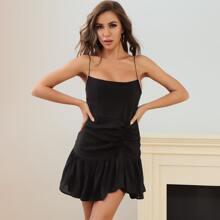 Lucra Cami Kleid mit Raffungsaum und Ruesche