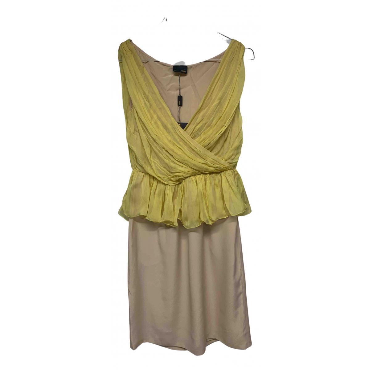 Vestido midi de Seda Fendi