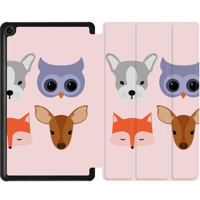 Amazon Fire 7 (2017) Tablet Smart Case - Animal Friends on Pink von caseable Designs