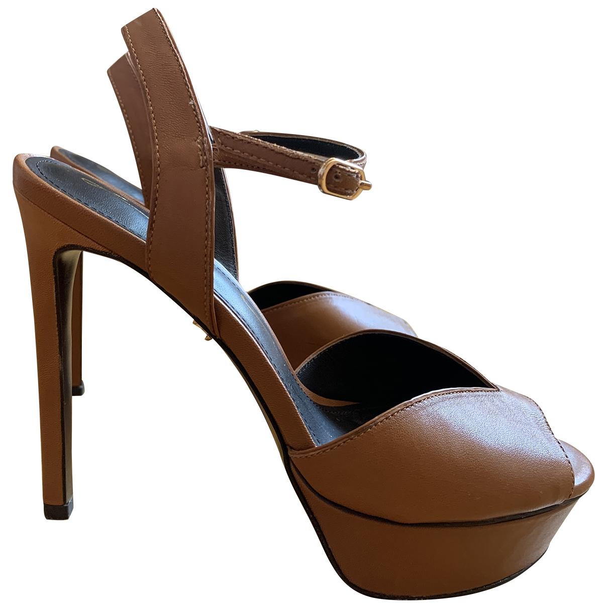 Lola Cruz - Escarpins   pour femme en cuir - marron
