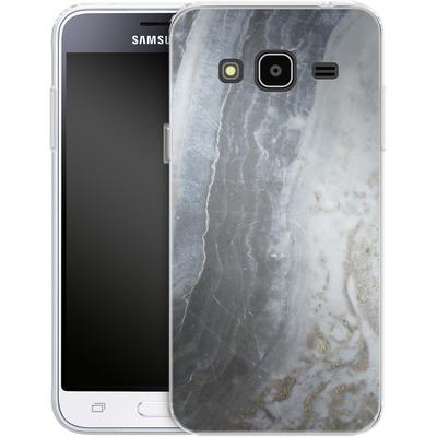 Samsung Galaxy J3 (2016) Silikon Handyhuelle - Desaturated Marble von Emanuela Carratoni
