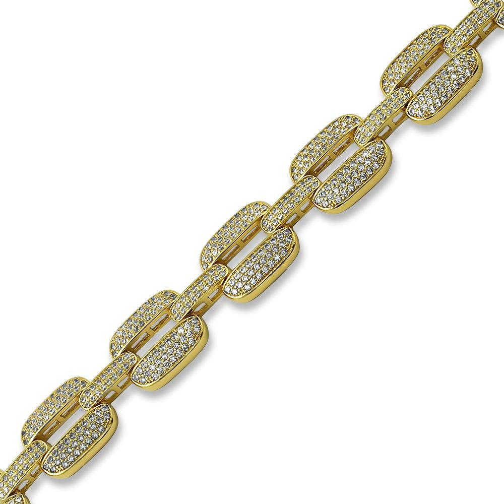 Bubble Triple Link Bling Bling Bracelet