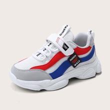 Jungen Farbblock Klettverschluss Sneakers